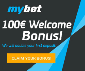MyBet SportsBook, Casino, Poker - 100€ Welcome Bonus
